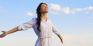 nefes alan kadın